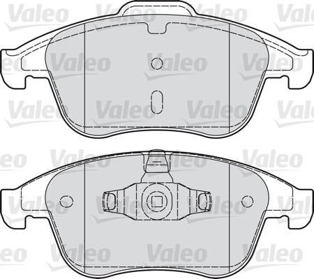 Kit de plaquettes de frein, frein à disque - VALEO - 601050