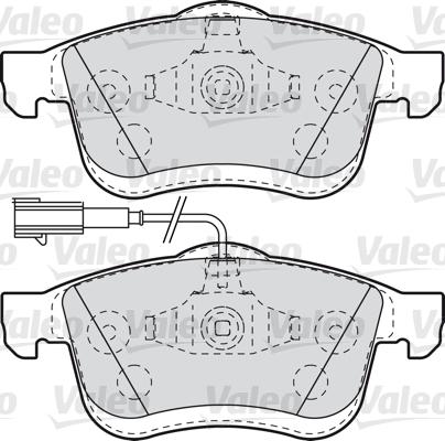 Kit de plaquettes de frein, frein à disque - VALEO - 601014
