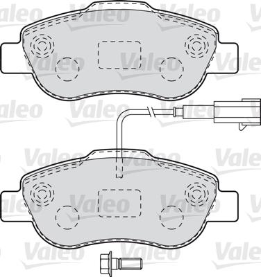 Kit de plaquettes de frein, frein à disque - VALEO - 601015