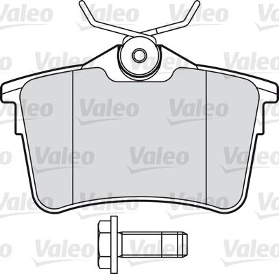 Kit de plaquettes de frein, frein à disque - VALEO - 601042