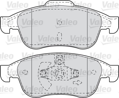 Kit de plaquettes de frein, frein à disque - VALEO - 601045