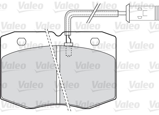 Kit de plaquettes de frein, frein à disque - VALEO - 598598