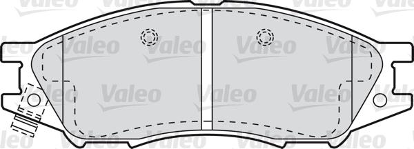 Kit de plaquettes de frein, frein à disque - VALEO - 598747