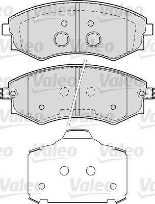 Kit de plaquettes de frein, frein à disque - VALEO - 598870