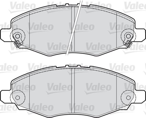 Kit de plaquettes de frein, frein à disque - VALEO - 598894
