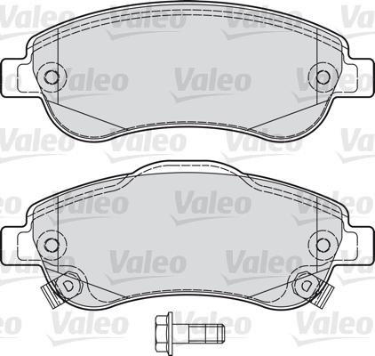 Kit de plaquettes de frein, frein à disque - VALEO - 598901