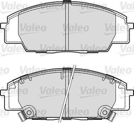 Kit de plaquettes de frein, frein à disque - VALEO - 598907