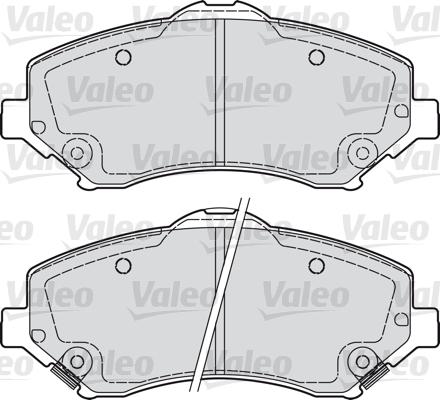 Kit de plaquettes de frein, frein à disque - VALEO - 598924