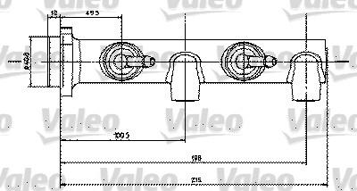Maître-cylindre de frein - VALEO - 350450