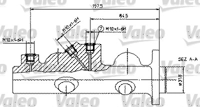 Maître-cylindre de frein - VALEO - 350584