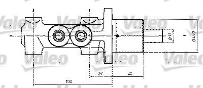 Maître-cylindre de frein - VALEO - 350813