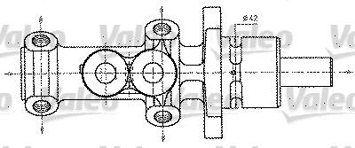Maître-cylindre de frein - VALEO - 402227