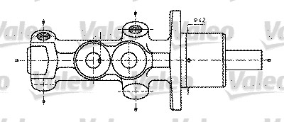 Maître-cylindre de frein - VALEO - 402232