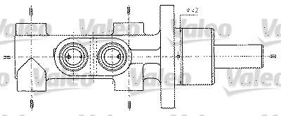 Maître-cylindre de frein - VALEO - 402255