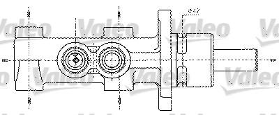Maître-cylindre de frein - VALEO - 402256