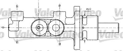 Maître-cylindre de frein - VALEO - 402295