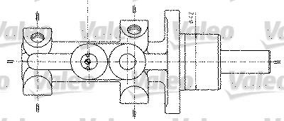Maître-cylindre de frein - VALEO - 402298