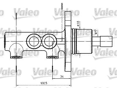 Maître-cylindre de frein - VALEO - 402302