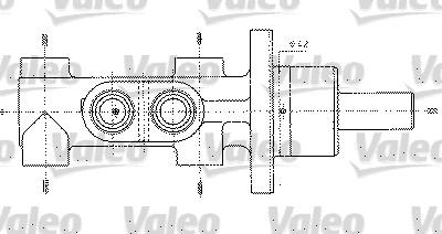 Maître-cylindre de frein - VALEO - 402303