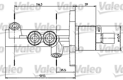 Maître-cylindre de frein - VALEO - 402314