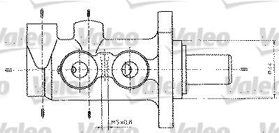 Maître-cylindre de frein - VALEO - 402321