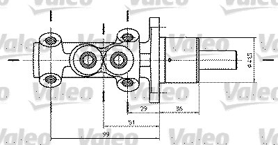 Maître-cylindre de frein - VALEO - 402322
