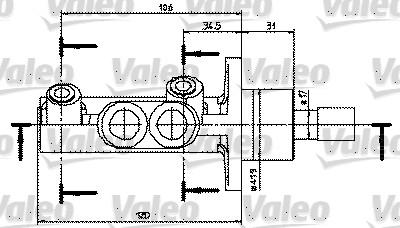 Maître-cylindre de frein - VALEO - 402329