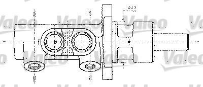 Maître-cylindre de frein - VALEO - 402330