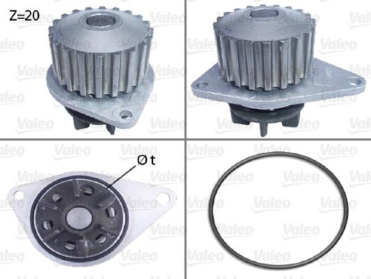 Pompe à eau - VALEO - 506035