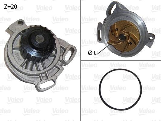 Pompe à eau - VALEO - 506130