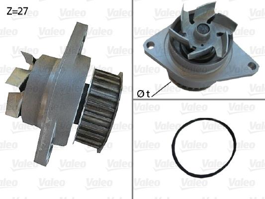 Pompe à eau - VALEO - 506385