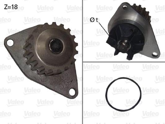 Pompe à eau - VALEO - 506721