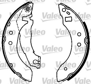 Kit de freins, freins à tambours - VALEO - 554686