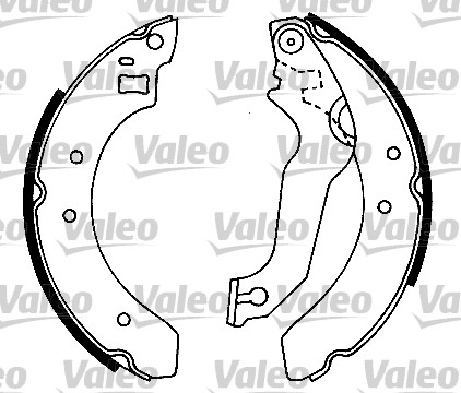 Kit de freins, freins à tambours - VALEO - 553628