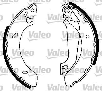 Kit de freins, freins à tambours - VALEO - 553723