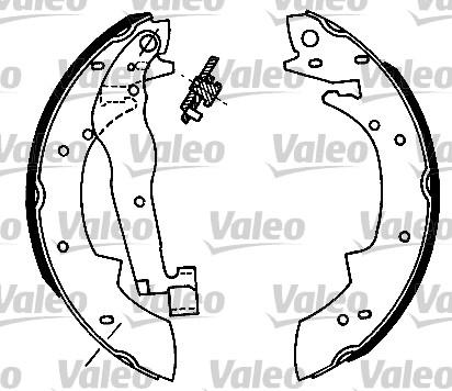 Jeu de mâchoires de frein - VALEO - 562105