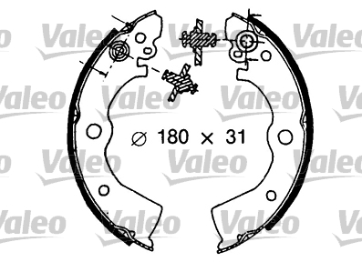 Kit de freins, freins à tambours - VALEO - 553825