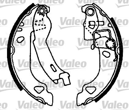 Kit de freins, freins à tambours - VALEO - 554629