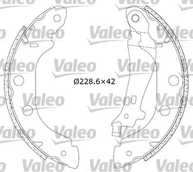 Kit de freins, freins à tambours - VALEO - 554639