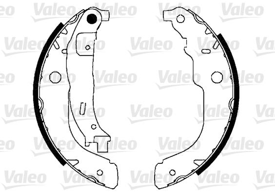 Kit de freins, freins à tambours - VALEO - 554861