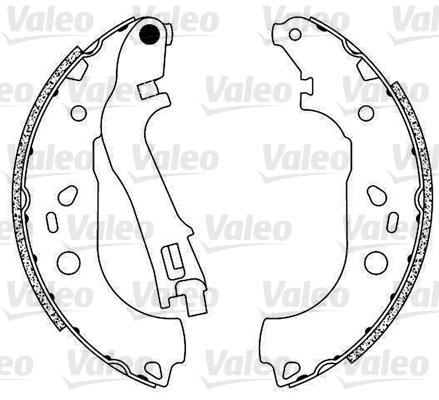 Kit de freins, freins à tambours - VALEO - 554823