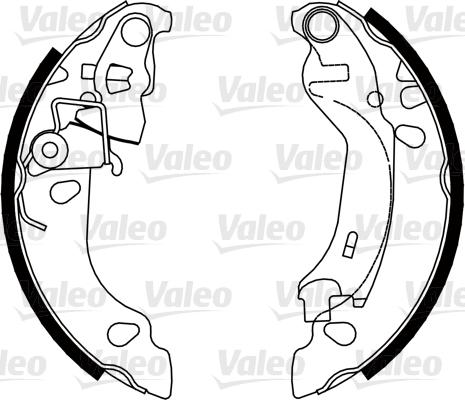 Kit de freins, freins à tambours - VALEO - 554817