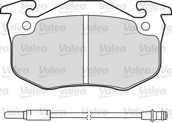 Kit de plaquettes de frein, frein à disque - VALEO - 598080