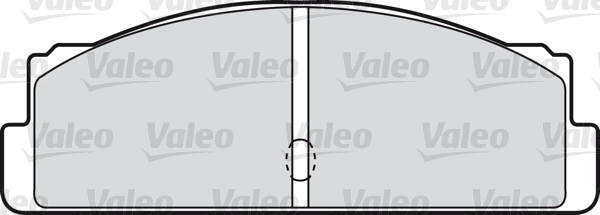 Kit de plaquettes de frein, frein à disque - VALEO - 598088