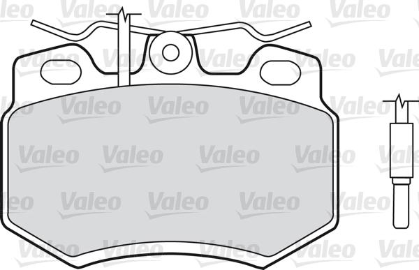 Kit de plaquettes de frein, frein à disque - VALEO - 598176