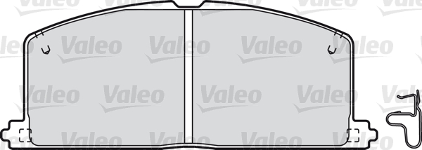 Kit de plaquettes de frein, frein à disque - VALEO - 598266