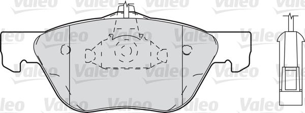 Kit de plaquettes de frein, frein à disque - VALEO - 598308