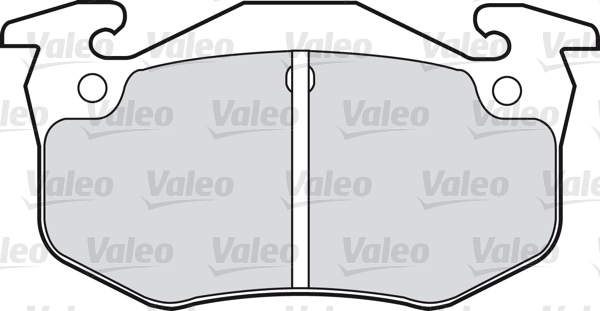 Kit de plaquettes de frein, frein à disque - VALEO - 598396