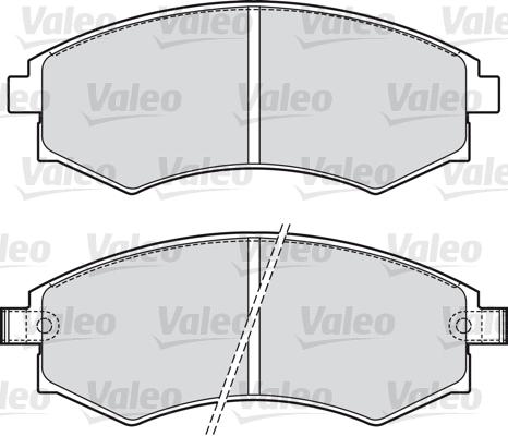 Kit de plaquettes de frein, frein à disque - VALEO - 598574