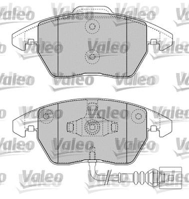 Kit de plaquettes de frein, frein à disque - VALEO - 598635